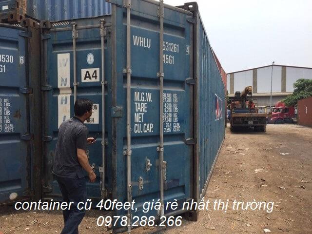 bán thùng container cũ